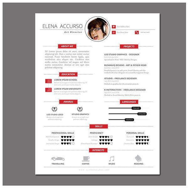 Simple Resume and Cover Letter Template Vol.02 on Behance ...