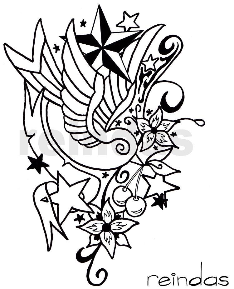 new school tattoo bw by reindas on deviantART New school