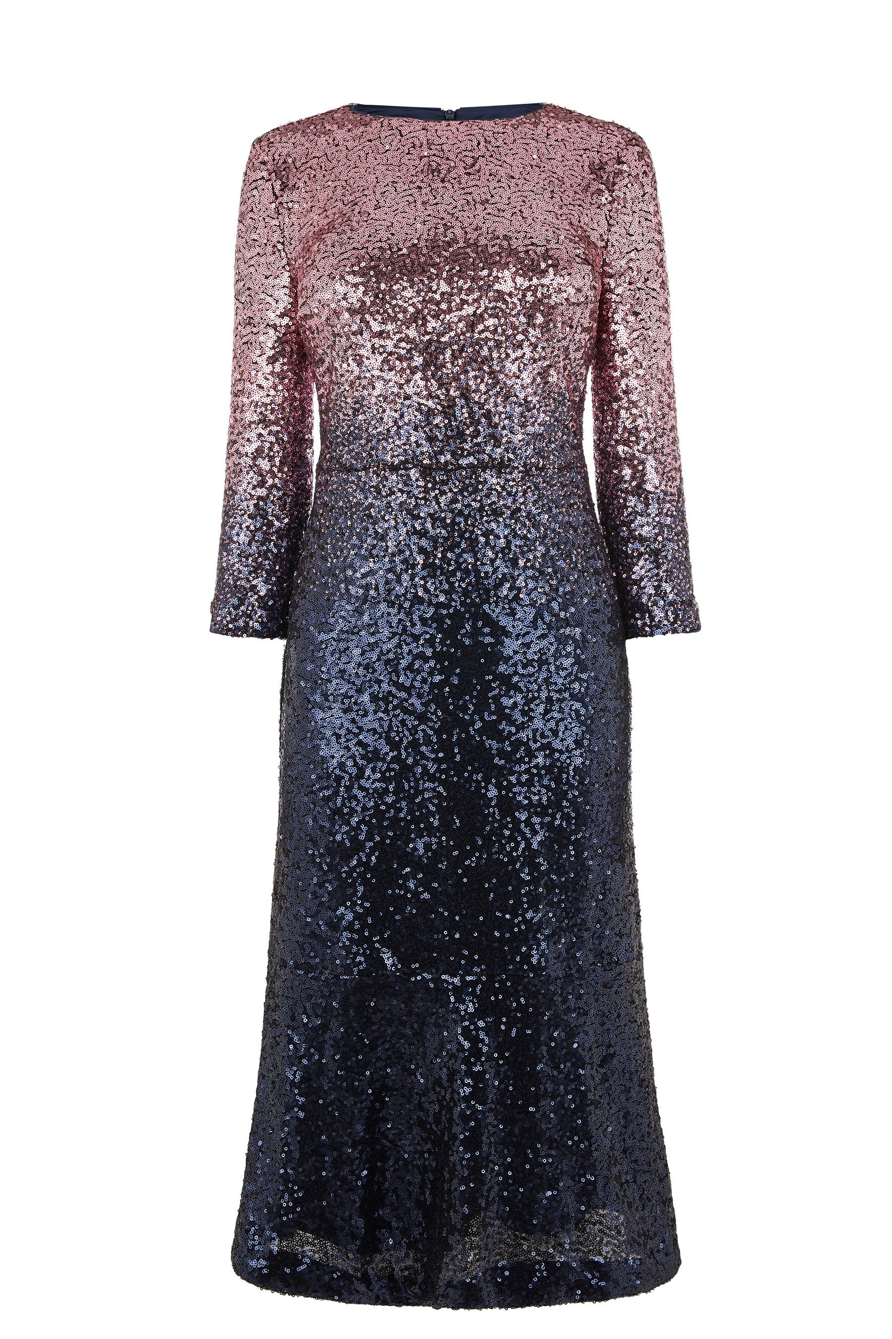 93a8c662 Womens Oasis Purple Ombre Sequin Midi Dress - Purple | Products ...