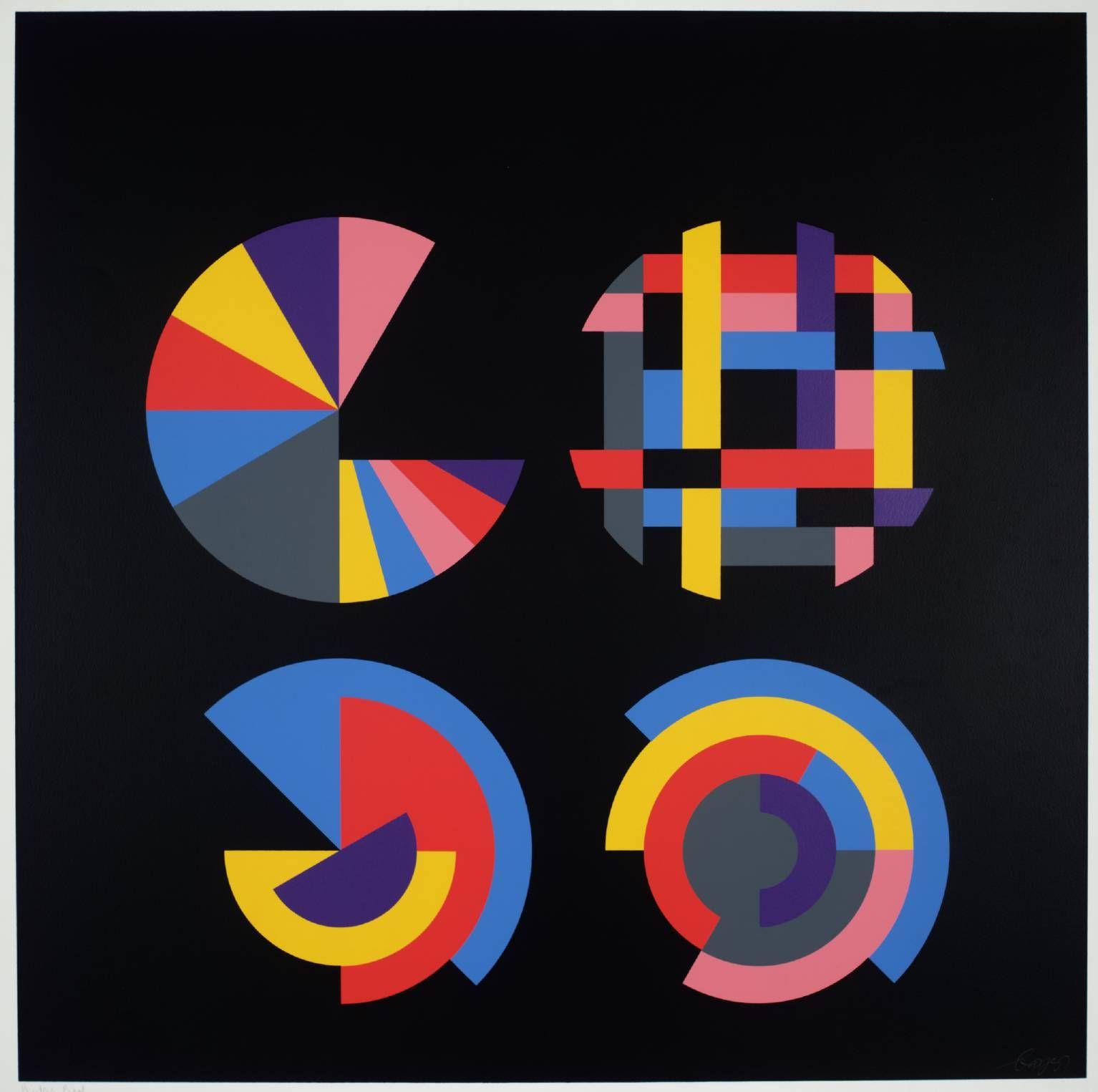 Herbert Bayer, 'Four Segmented Circles' 1970