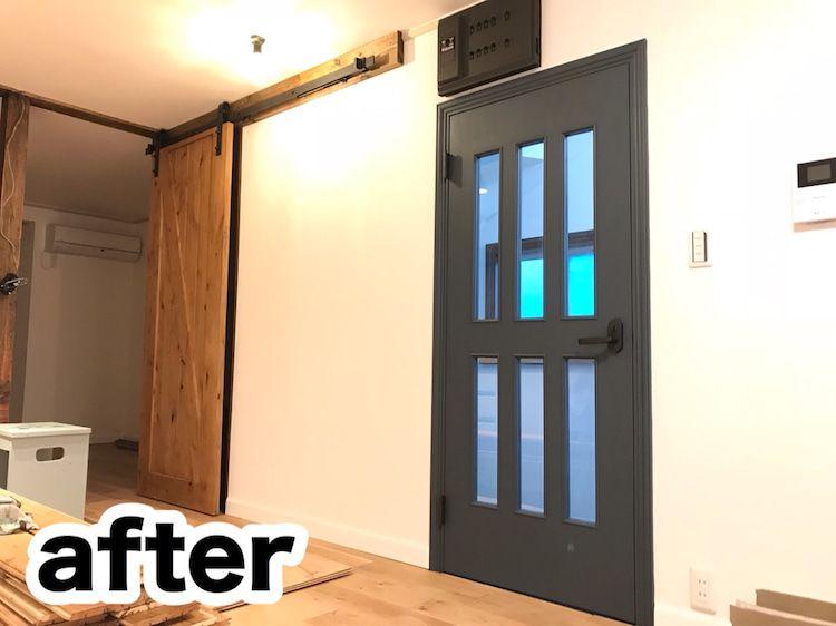 予算20万円で築30年のボロ家をまるっとdiy その ドア塗装 和室 Diy