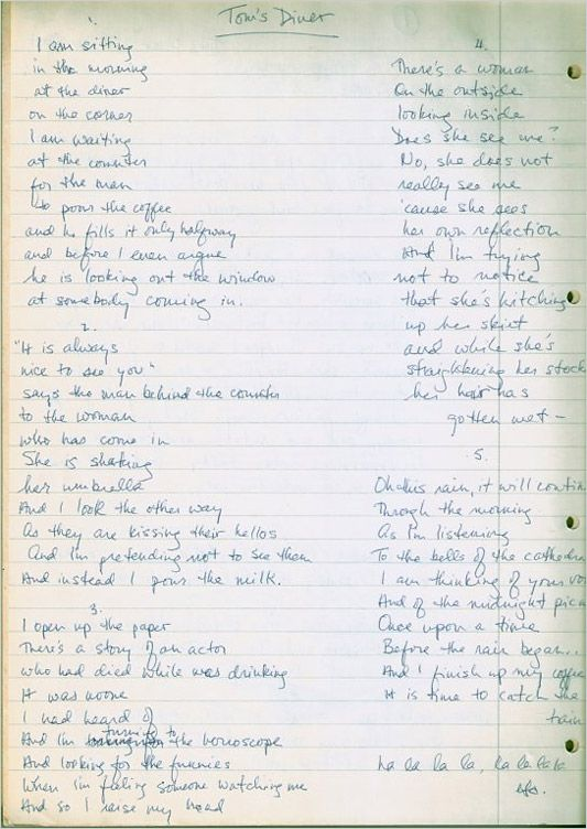 Exploring Musicians Handwritten Lyrics To Famous Songs With