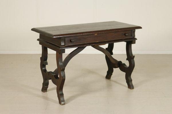 Tavolo scrittoio ~ Scrittoio in stile con gambe a lira cassetto nella fascia