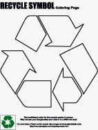 Free Downloadable Recycle Symbol Coloring Page Color Activities