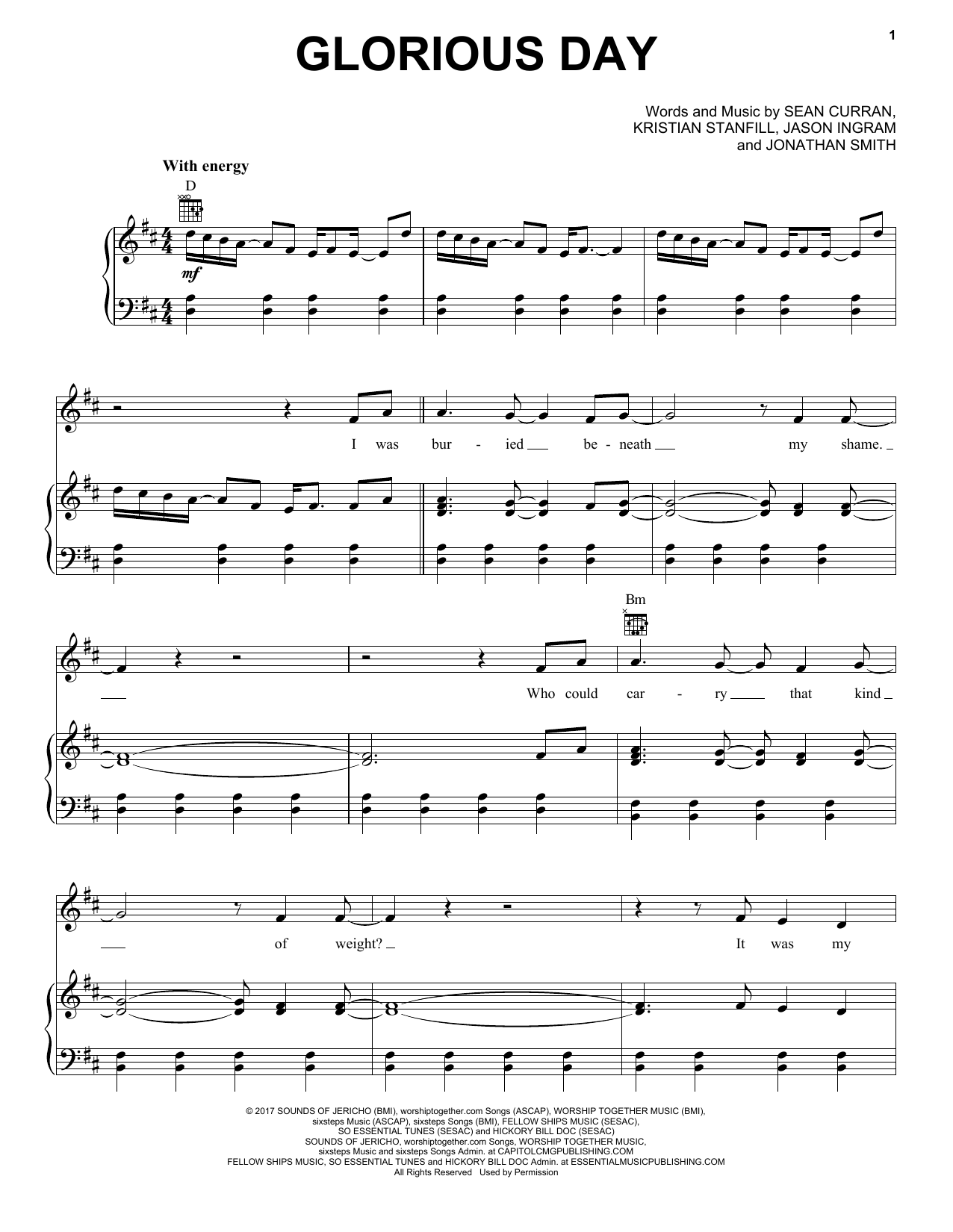 Passion Glorious Day Sheet Music Notes Chords Download