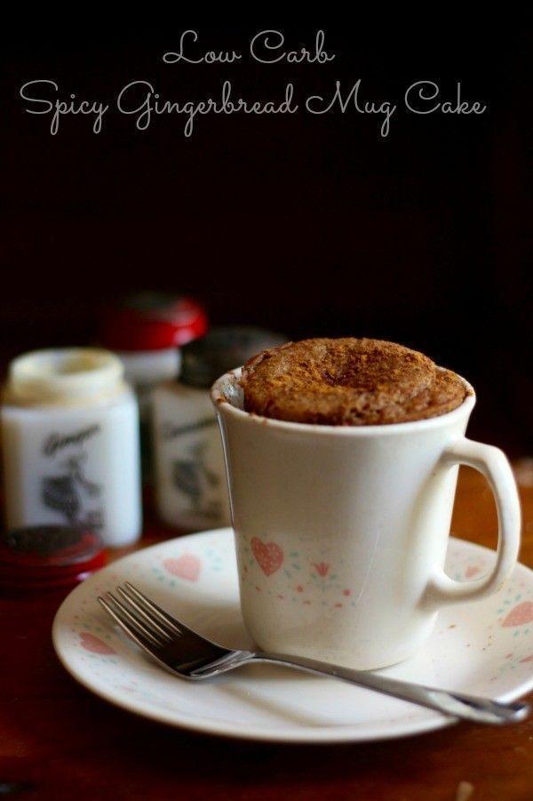 Spicy Gingerbread Mug Cake | Recipe | Keto mug cake, Low ...