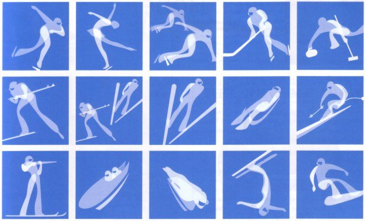 Turin 2006 Winter Olympic Pictograms