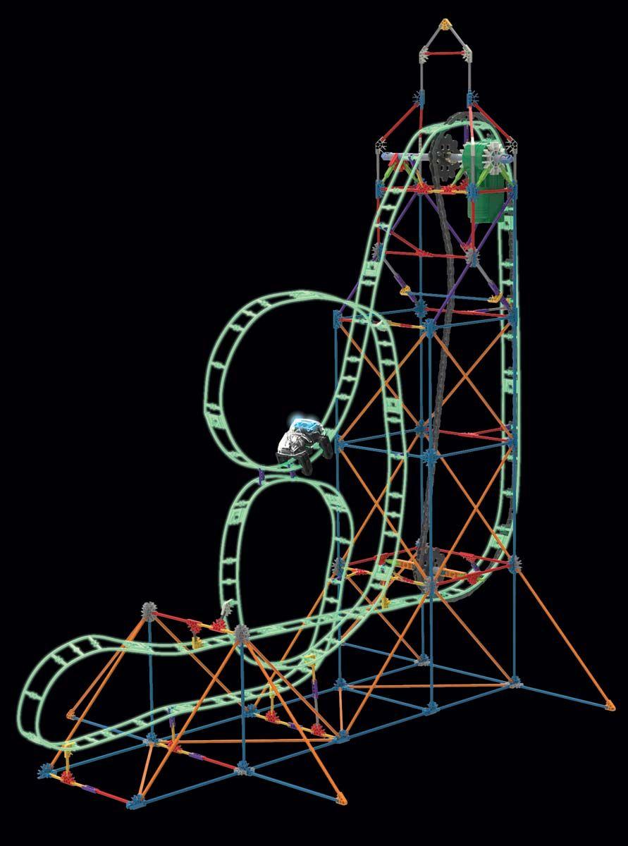Looping Light Up Roller Coaster Building Set Knex Thrill Rides