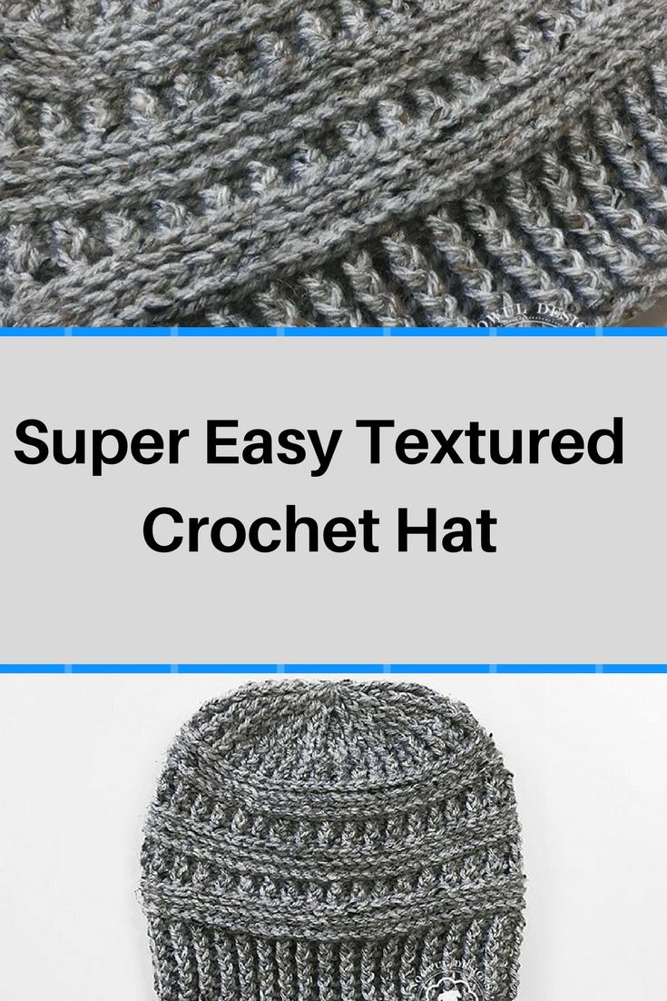 Free Pattern] Super Easy Textured Crochet Hat | Free crochet ...