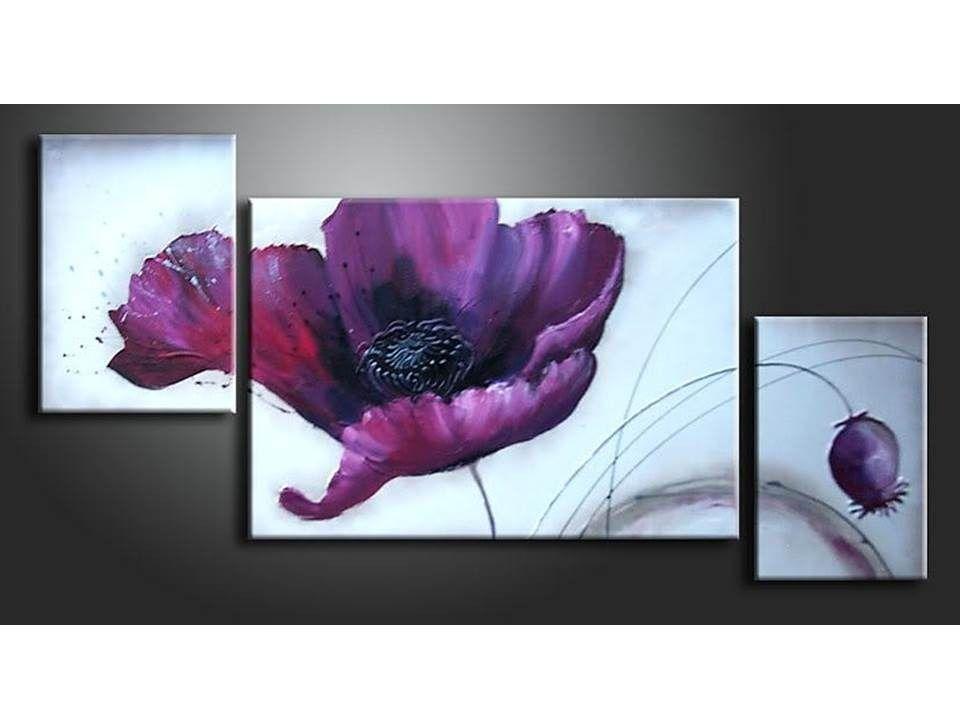 Imagenes De Cuadros Con Flores Sobre Lienzo Pinturas Flores Oleo