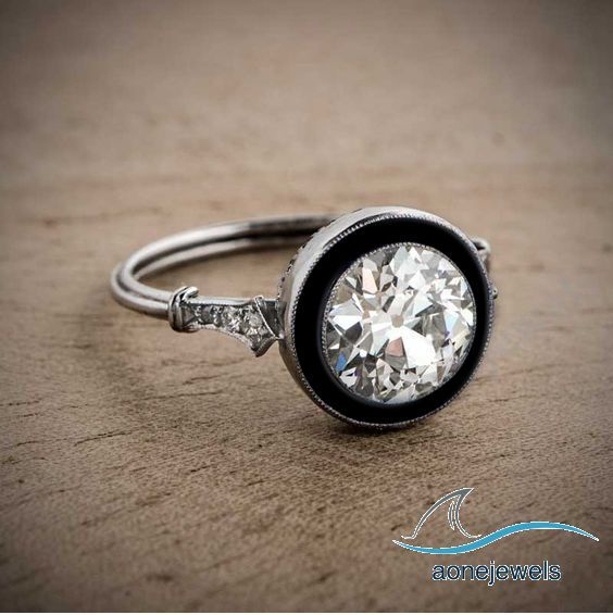 2.00 CT 8MM Stone New Round Cut Diamond With Anamel 925 Silver Engagement Ring #aonejewels #SolitaireWithAccents