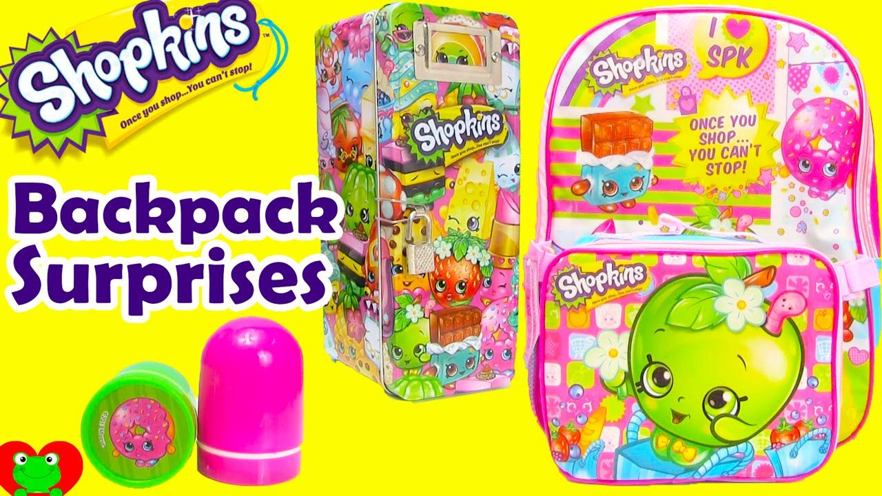 Shopkins Backpack Surprises With Shopkins Lunch Bag