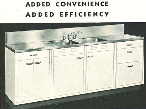 Whitehead Steel Kitchen With Monel Steel Integral Countertop. | Vintage  Kitchens 1800s To 1950u0027s | Pinterest | Steel Kitchen Cabinets, Stainless  Steel Sinks ...