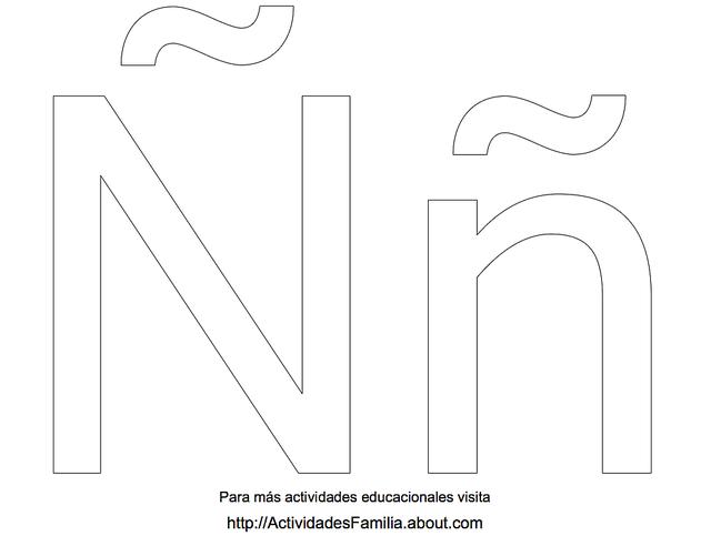 Letras del abecedario para colorear: Ñ a Z
