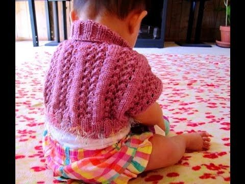 Easy and Cute Baby Shrug Knitting Pattern | Shrug knitting ...