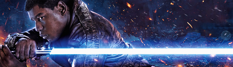 Star Wars The Force Awakens Finn Banner 6000x1751 Pixels Star Wars Episode Vii Force Awakens Poster Star Wars