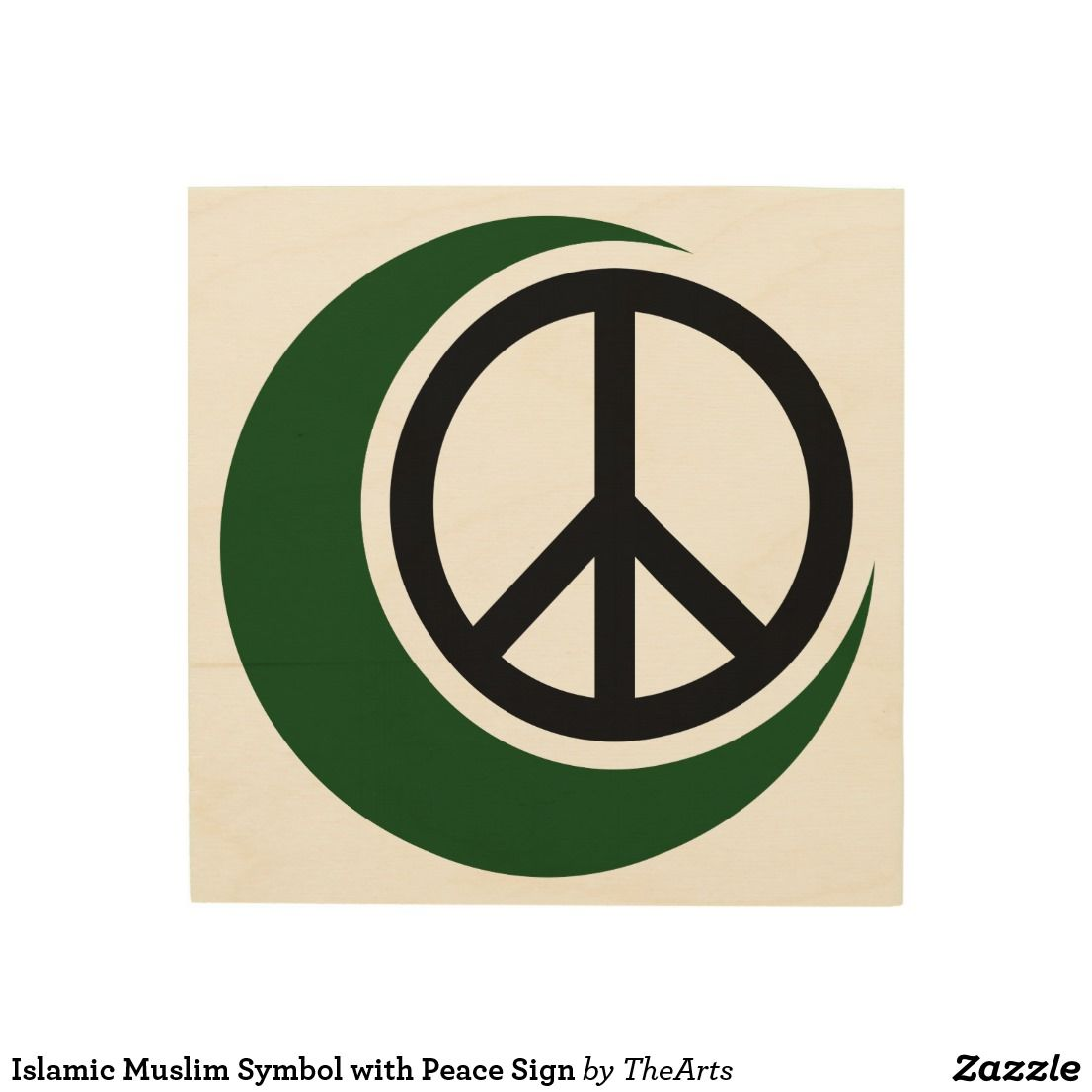 Islamic Muslim Symbol With Peace Sign Wood Arts Pinterest