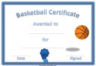 Basketball certificates annas favorites pinterest certificate a variety of free printable basketball certificate templates many more free sports awards and award certificates on this site yadclub Choice Image