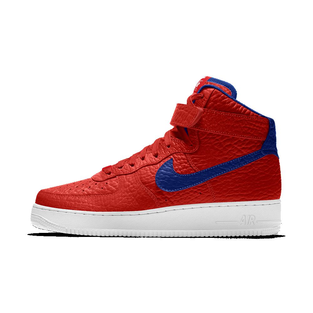 6e11897f82a6b6 Nike Air Force 1 High Premium iD (Philadelphia 76ers) Men s Shoe Size 7.5  (Red)