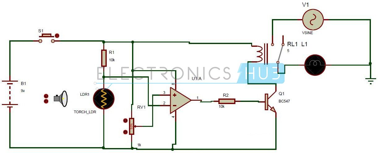 Light Activated Switch Circuit using LDR Sensor | Circuits, Circuit ...