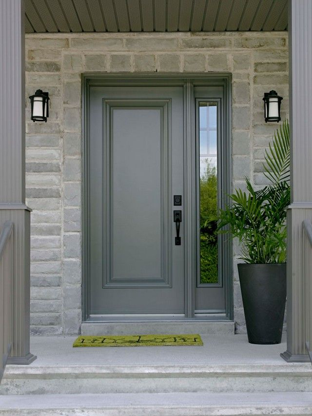 Steel entry doors with sidelights and transom entry for Single front entry doors