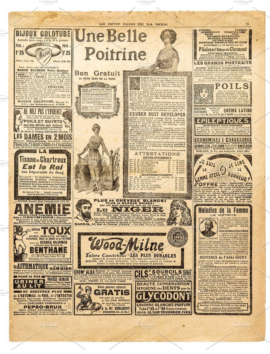 Newspaper Antique Advertising Vintage Printables Vintage Labels Apothecary Labels