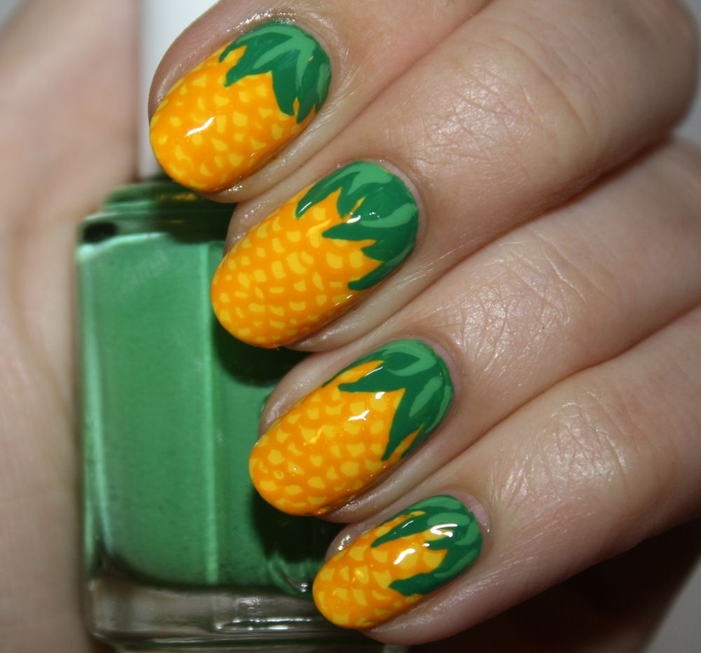 Nail art tutorial pineapple express pretty nails pinterest