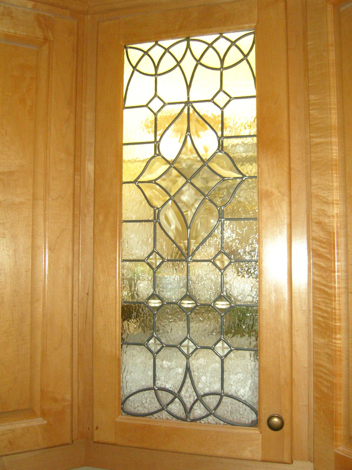 Victorian Kitchen Cabinet stained glass panel by Gary ...