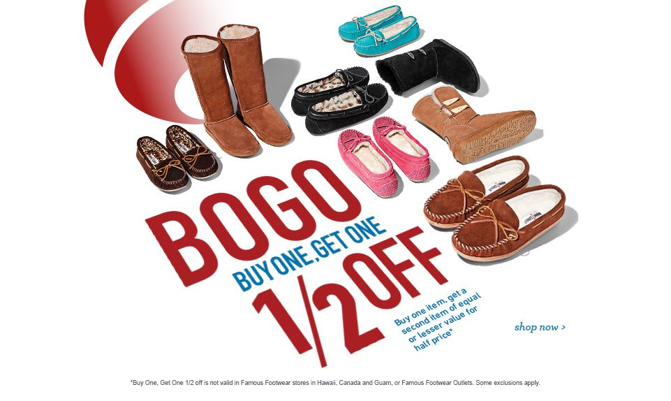 BOGO at Famous Footwear – Buy one get
