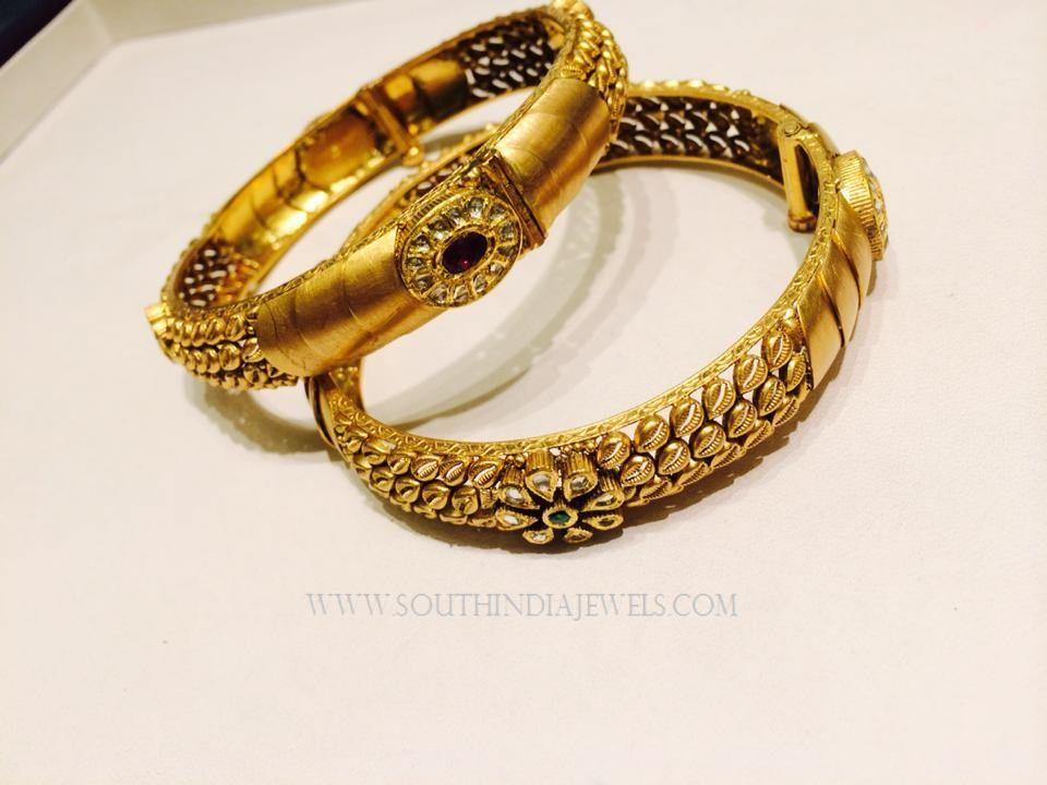 Gold Designer Bangles From KN Jewellers Designer bangles