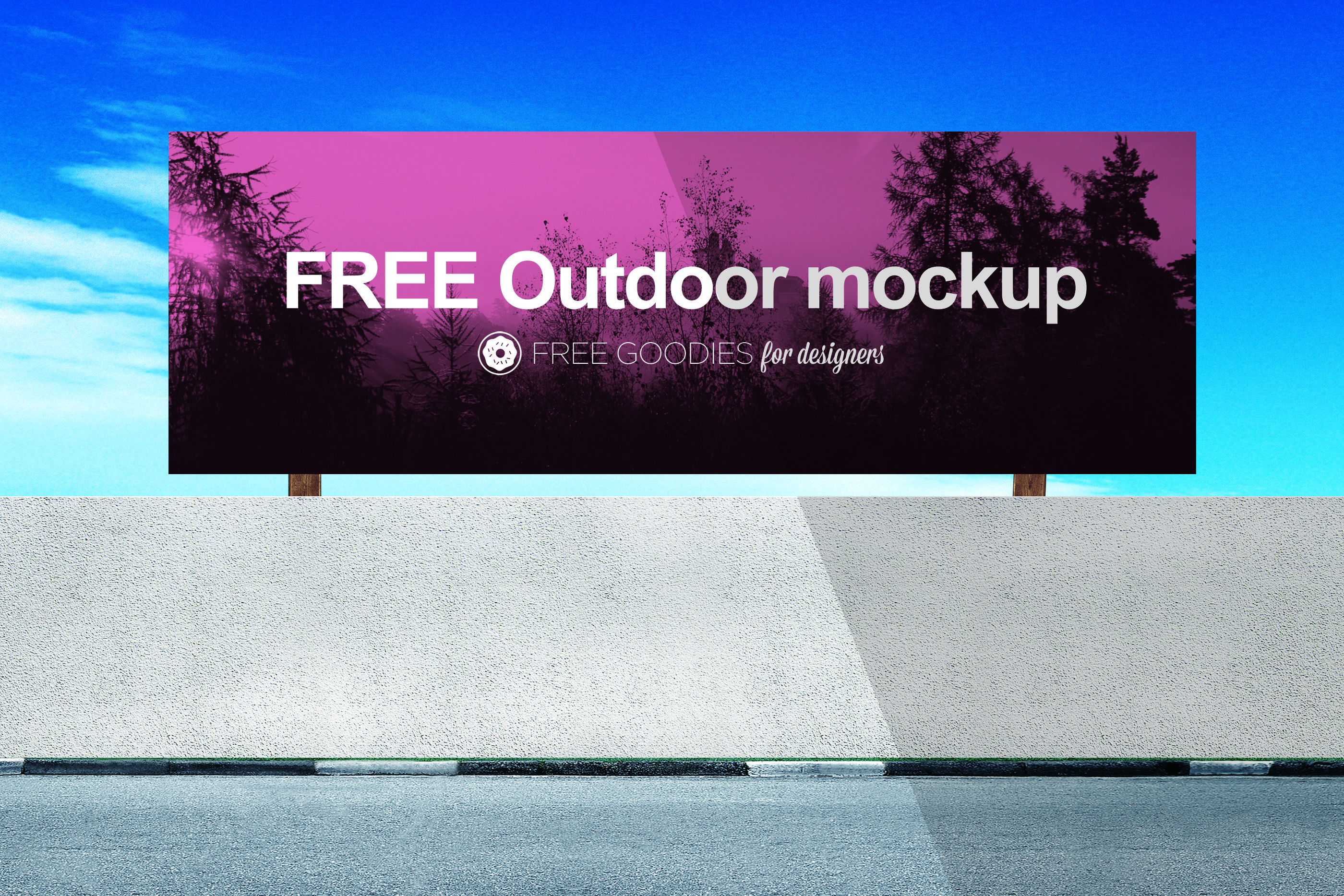 Free Billboard Mockup In Psd With Smart Layers Billboard Mockup Free Mockup Poster Mockup Psd