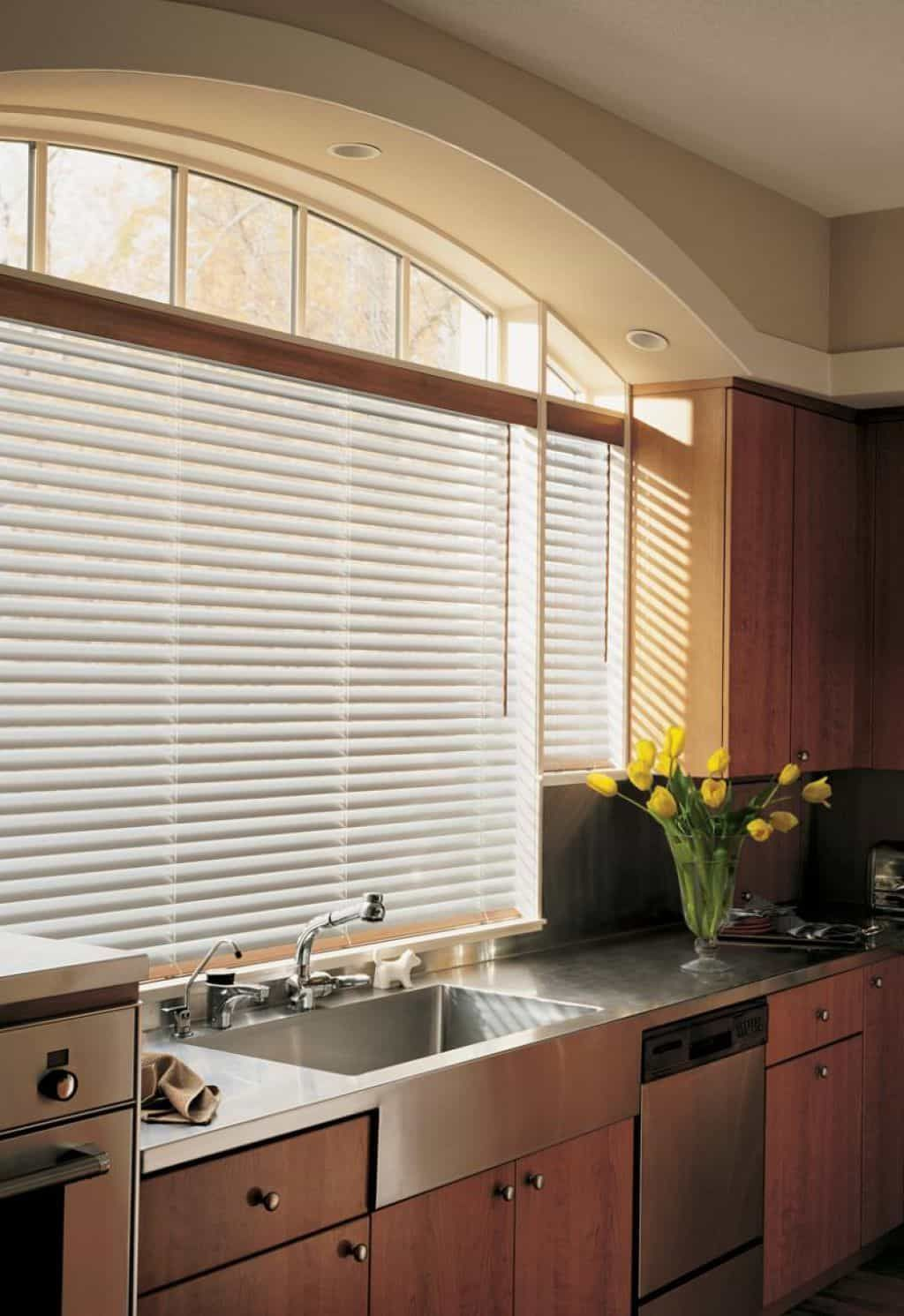 Kitchen window kitchen blinds  functional and decorative kitchen window blinds