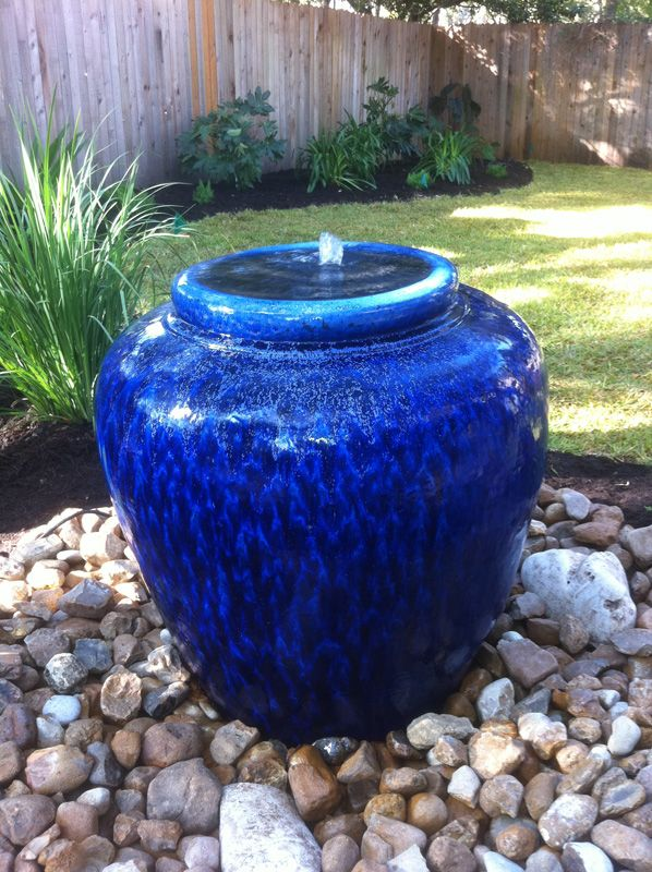 Blue Urn Fountain Water Fountains Outdoor Water Garden Fountains Outdoor