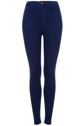 MOTO Hyper Blue Joni Jeans - Joni Super High Waisted Jeans - Denim ...