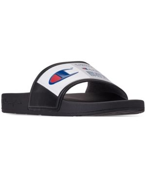 ea1766879279 Champion Men s Ipo Jock Slide Sandals from Finish Line - Black 9 in ...