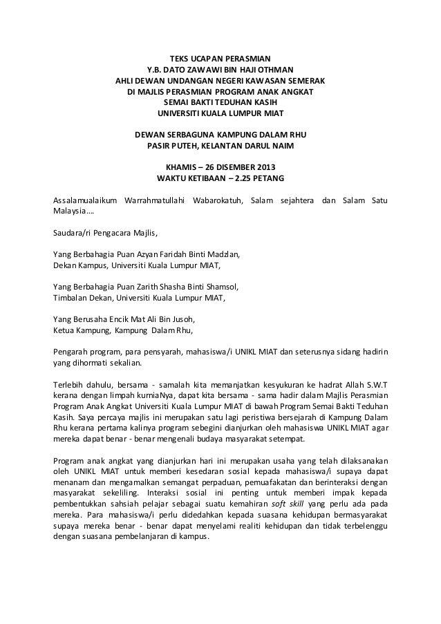 Teks Ucapan Perasmiany B Dato Zawawi Bin Haji Othmanahli Dewan Undangan Negeri Kawasan Semerakdi Majlis Perasmian Prog Teks Personalized Items Person