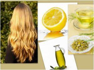 Prirodna rešenja za posvetljivanje kose. Limunov sok, maslinovo ulje, cimet, kamilica, med...