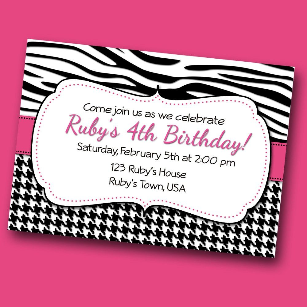 Pink Diva Birthday Party Invitation, Bridal Shower Invite, Hot Pink ...