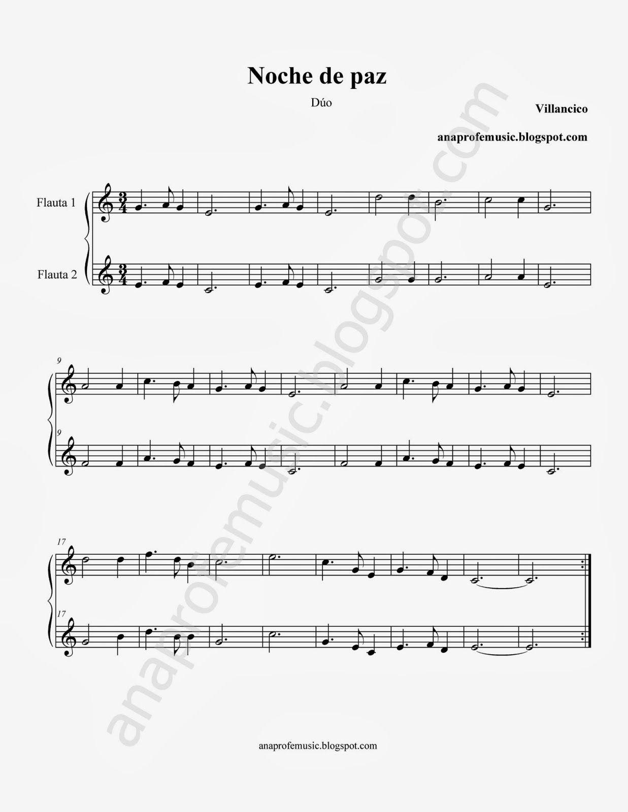 Partitura Duo Noche De Paz Flauta Tiff 1237 1600 Partituras Partituras Trompeta Partituras Piano Facil