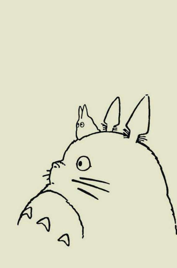 Totoro Pillow Cat Wallpaper Iphone Cartoon Backgrounds Wallpapers Hayao Miyazaki Design Power Girl