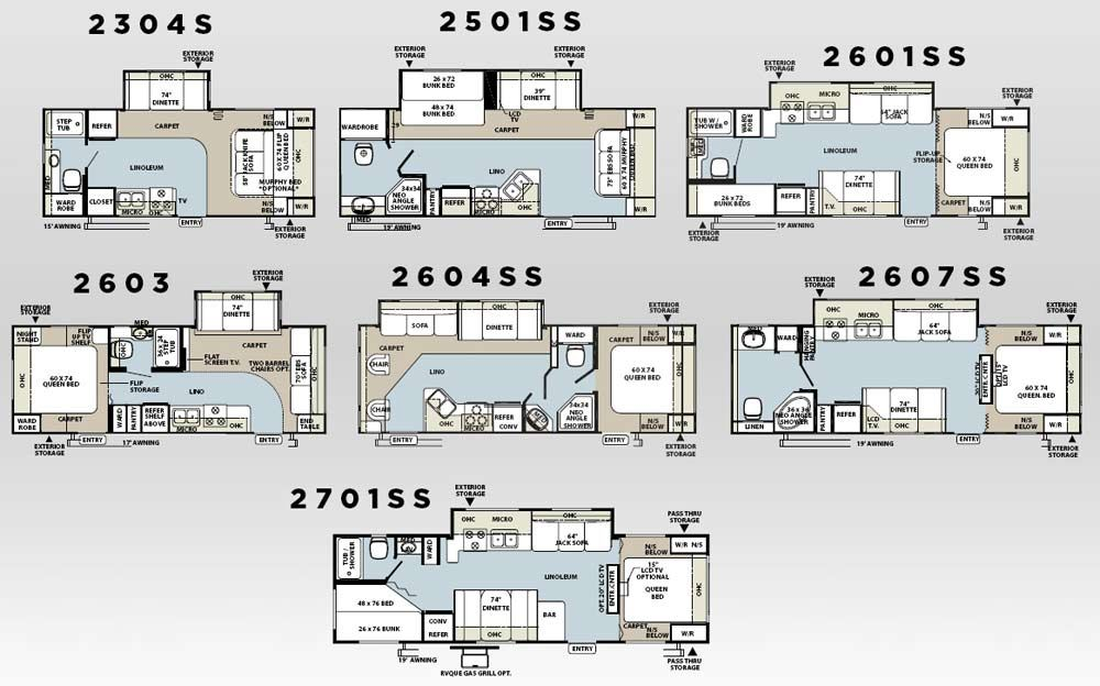 Forest River Travel Trailer Floor Plans Gurus