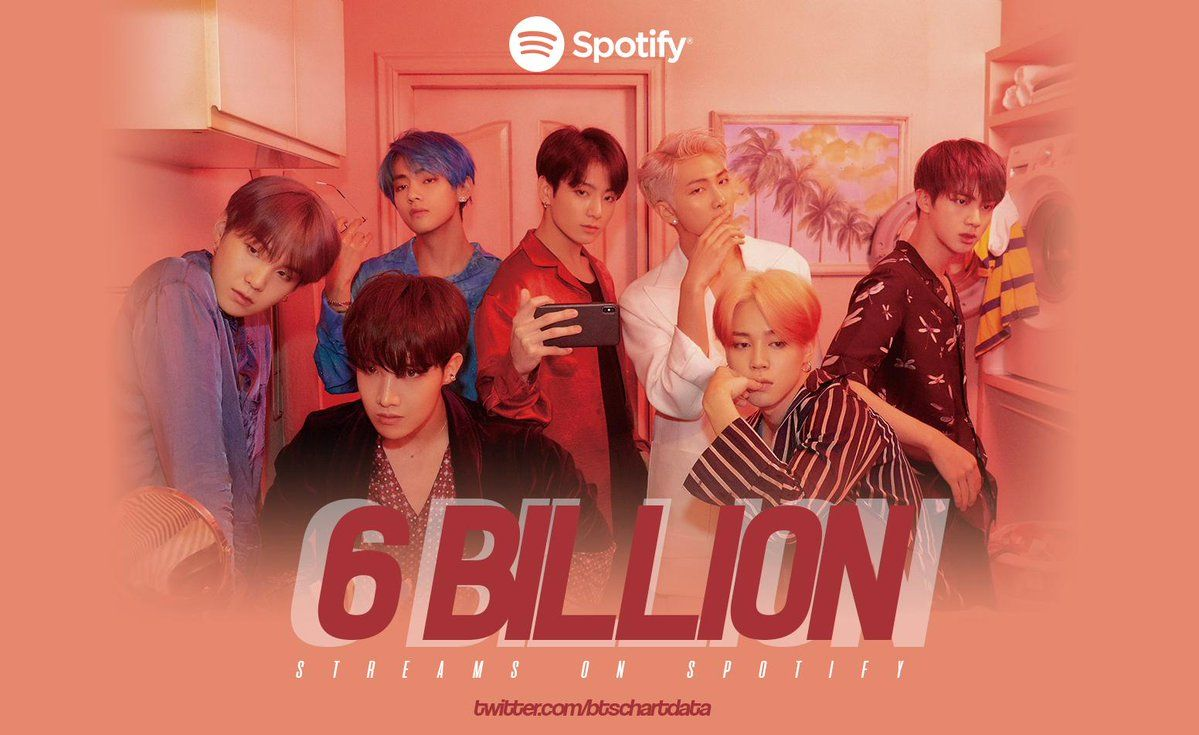 Bts Has Surpassed 6 Billion Total Streams On Spotify Remaining As The Most Streamed Asian Artists Bts Billboard Album Songs Spotify