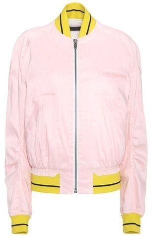 Haider Ackermann Linen-blend bomber jacket