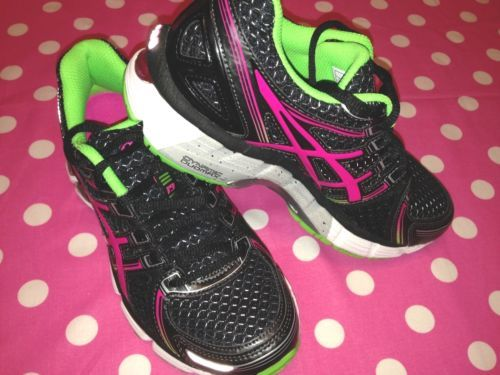 ae98156a333c New Asics Gel Kayano 19 GS Running Shoes Black Pink Green Youth 3 Womens 5