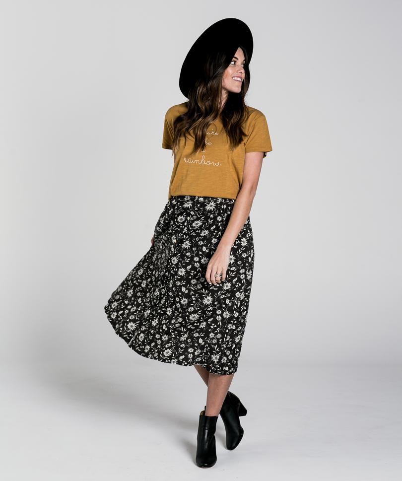 91e52f0230c button front midi skirt