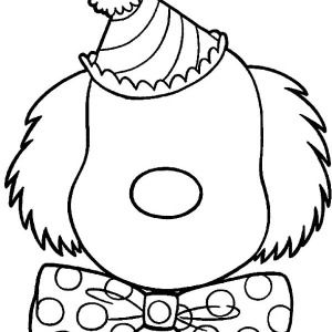 Happy Clown Face Coloring Pages Scary Clown Face Scary Clown