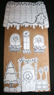 gingerbread house template for paper bag  Gingerbread House Craftivity | Gingerbread house template ...