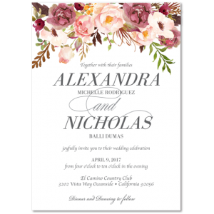 Beautiful Wedding Announcements 136 One Sided Discount Wedding Invitations Fun Wedding Invitations Wedding Invitation Samples