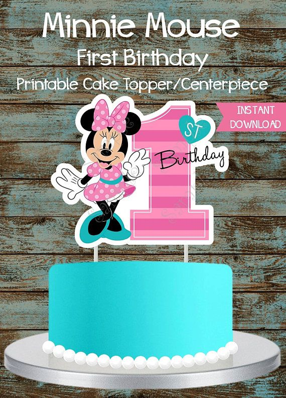 Outstanding Printable Minnie Mouse First Birthday Party Package Minnie Mouse Funny Birthday Cards Online Elaedamsfinfo
