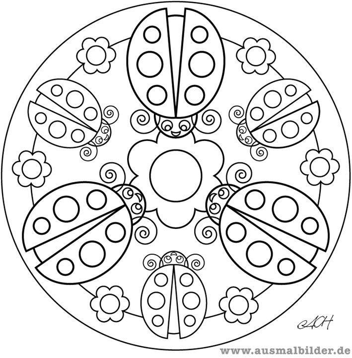 Pin Von Esther Galdon Auf Mandalas Intricate Marienkafer Ausmalbild Mandala Design Ausmalbilder